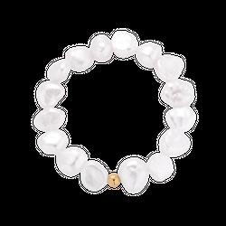 Pierścionek elastyczny z perłami Pearly Foam