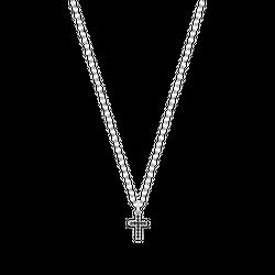 Naszyjnik New Charm Black Cross Silver