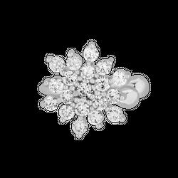 Kolczyk Top Snowflake Silver