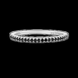 Pierścionek Full Black Silver