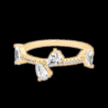 Pierścionek Crystal Kiss Złoty