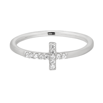Pierścionek Cross Silver