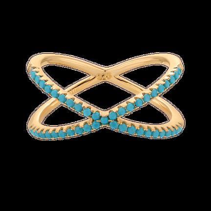 Pierścionek X-mini Turqouise Gold