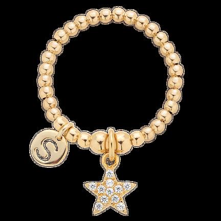 Pierścionek elastyczny Enchanted Star