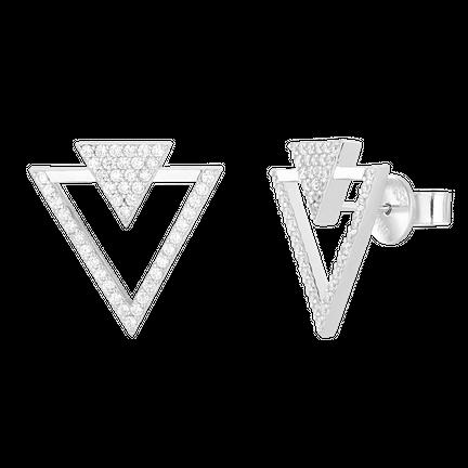 Kolczyki Double Shine Silver