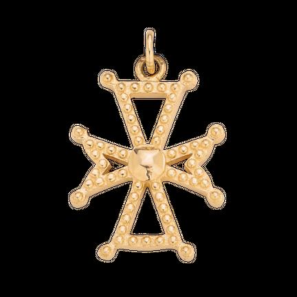 Zawieszka z krzyżykiem maltańskim Gold