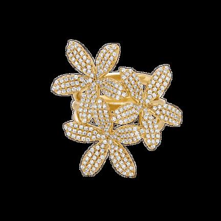 Pierścionek 3 Lilies Gold