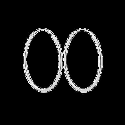 Kolczyki Hoop 30mm Srebrne