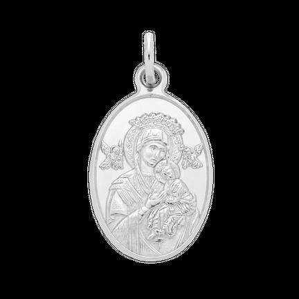 Medalik z Maryjką Silver