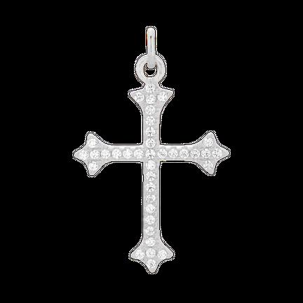 Zawieszka z cyrkoniowym krzyżykiem Silver