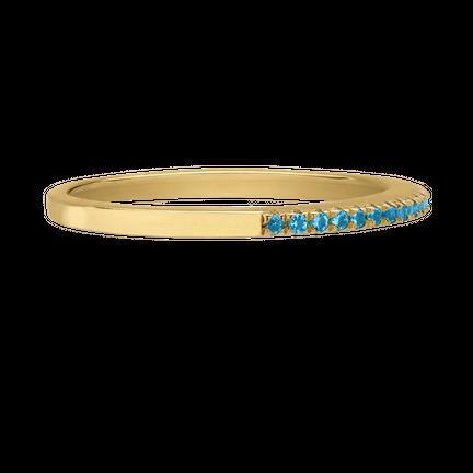 Knuckle ring Half Blue