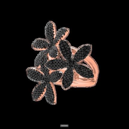 Pierścionek 3 Lilies Black Rose