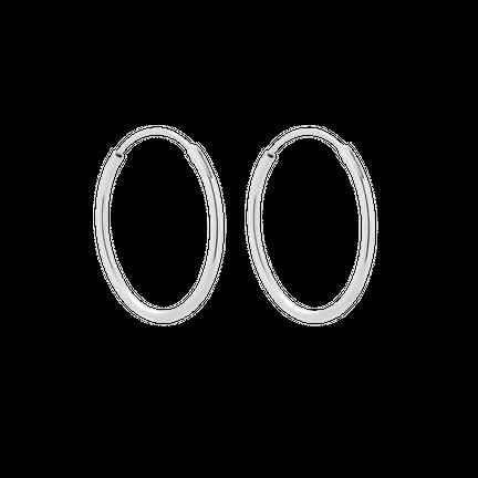 Kolczyki Hoop 20mm Srebrne