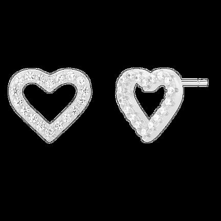 Kolczyki Heart Silver