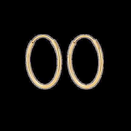 Kolczyki Hoop 20mm Złocone