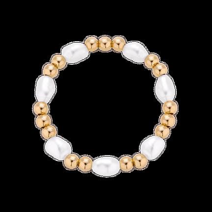 Pierścionek elastyczny z perłami Astro Pearl