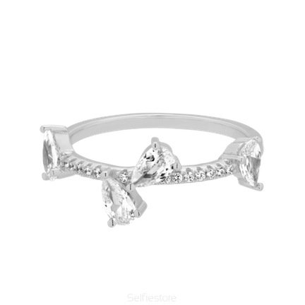 Pierścionek Crystal Kiss Srebrny